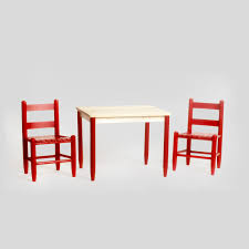 Asheville Wood Childs 3pc Table Set No. 17t's - Dixie Seating