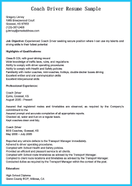 Bus Driver Resume To Gain The Serious Job Check More At Snefciorg Stunning