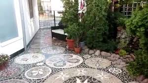 outdoor marble floor mosaic