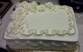 Sheet Cake Wedding Photo