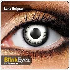 BlackWhite Lunar Eclipse Coloured Contact Lenses