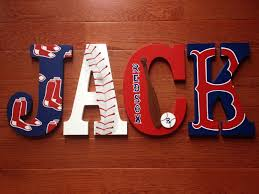 Custom Personalized Hand Painted BOSTON RED SOX Wood Letters
