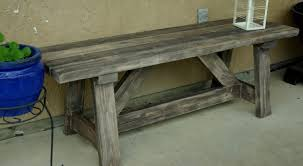 Wooden Outdoor Bench Diy Image Credit