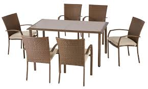 delaronde 7 piece woven patio dining set backyard pinterest