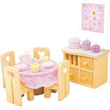 le sugarplum esszimmer zubehörset aus holz für puppenhäuser puppenhaus möbelsets geeignet für kinder ab 3 jahren me049