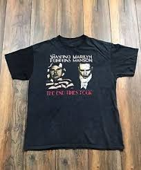 Smashing Pumpkins Merchandise T Shirts by Rare Vtg Marilyn Manson Smashing Pumpkins Tour Shirt Sz L Goth