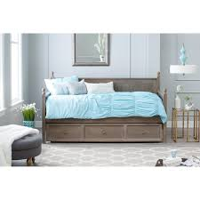 Pop Up Trundle Beds by Belham Living Casey Daybed Washed Gray Hayneedle