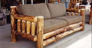 Rustic Is Just One Adjective Capable Of Describing This Unique Sturdy Natural Log Sofa