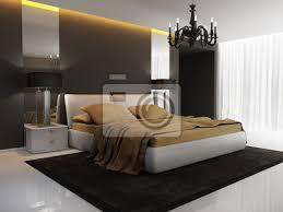 fototapete chic luxus hotel gold schwarz schlafzimmer kronleuchter perspektive