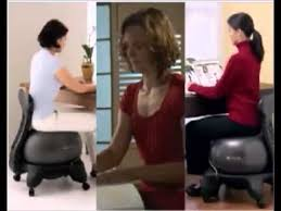 gaiam ball chair strengthen core muscles and improve spinal