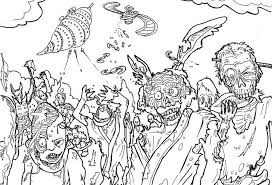 All Zombie Coloring Page Halloween Pages 73430 For Free 2015
