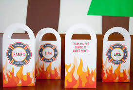 DIY Personalized Firefighter Printable Favor Bags For A Fireman ...