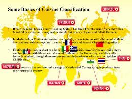 basics of cuisine continental food
