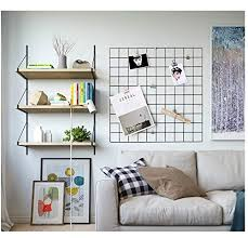 Amazon Kleanner Metal Wire Mesh Grid PanelMesh Memo Board Wall Art Display Hanging Organizer Pack Of 2 PcsSquare Size236 X 236Black Home
