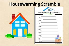 Instant Download Housewarming Word Scramble GamePrintable Party GameHousewarming Shower ActivityFun Game