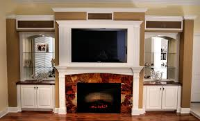 Wall Units Entertainment Center With Built In Fireplace Electric Living Room