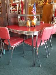 100 Red Formica Table And Chairs