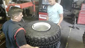 100 15 Inch Truck Tires Stretching Tires 35 1250 Inch On Inch Wire Wheels YouTube