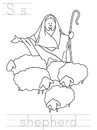 Jesus Good Shepherd Coloring Pages AZ