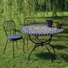 table ronde mosaique fer forge salon jardin mosaique salon jardin mosaique sur enperdresonlapin