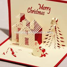 Birthday Card Manufacturers Handmade Paper Craft 3d Pop Up Christmas Greeting With Template