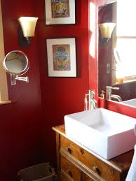 inspiring red bathroom amusing excellent two tone white and themes