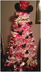 White Christmas Tree Mickey Mouse Fabulous Minnie Kids Pinterest
