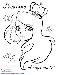 Free Printable Coloring Pages For Kids Princess By Penny Candy And