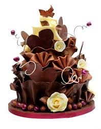 Beautiful Birthday Cakes Brown Cream Chocolate Flower Cake With Wonderful Design Most Beautiful Chocolate Birthday Cakes