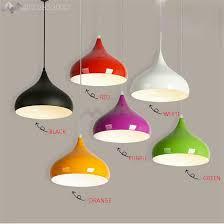 JW Modern Colorful Aluminium Pendant Light DIY Hanging Lamp Shade E27 Socket Fixture Lumiere Bar Loft In Lights From