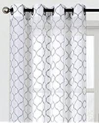 Moroccan Lattice Curtain Panels by Amazon Com Single 1 Window Curtain Panels Textured Sheer