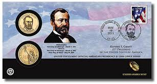 Ulysses S Grant Presidential 1 Dollar Coin Cover