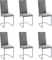 grau kunstleder kunstleder esszimmerstühle kaufen