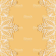 Abstract Background Frame Border Lace Pattern Wedding Invitation Card Design Royalty Free