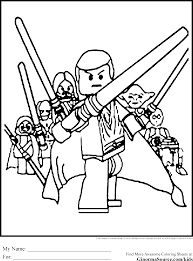 Star Wars Lego Colouring Pages 18 Coloring Page Jedi
