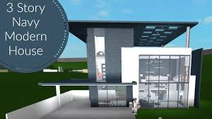 100 Modern House 3 BLOXBURG Story Navy Speedbuild