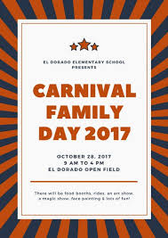 Blue And Orange Stripes Stars Carnival Poster