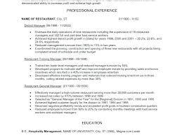 Objective Skills Examples Career Restaurant Server
