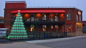 Chicago Christmas Tree Recycling 2013 by Genesee Brewing Company U0027s Keg Christmas Tree Brings On The Holiday