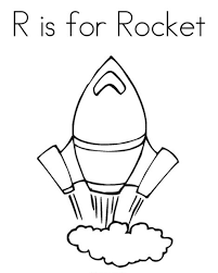 Rocket Free Alphabet Coloring Pages