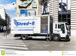 Shred-it Truck Working On Shredding And Confidential Waste Dispo ...
