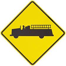 100 Truck Sign Tapco W118 Engineer Grade Prismatic Warning Legend Fire
