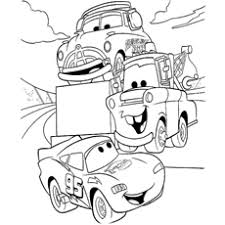 Lightning McQueen Talking With Friends Tier Blast Coloring Sheet