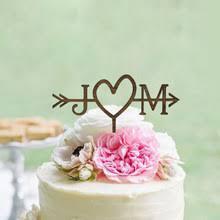 Decoration Beach Bridal Shower Arrow Initials Cake Topper