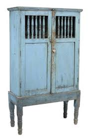 Spanish Colonial Blue Painted Cabinet Probably Mexican Late 19th Century Pine Throughout Antique FurnitureLarge