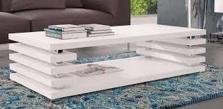 couchtisch tisch wohnzimmertisch hochglanz weiß 115x65 cm lack kratzfest