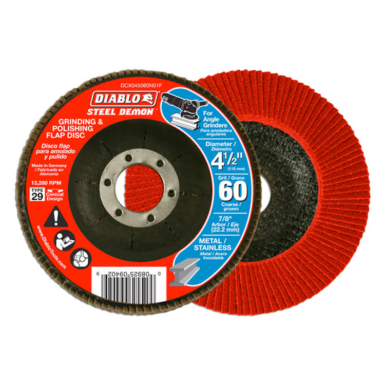 "Diablo Steel Demon Grinding and Polishing Flap Disc - 4 1/2"", 60 Grit"