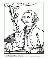 Free Printable George Washington Coloring Pages And Carver Page
