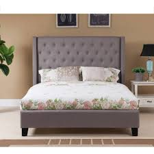 Skyline Furniture Tufted Headboard by Home Decor Appealing Wingback Queen Bed Perfect With Black
