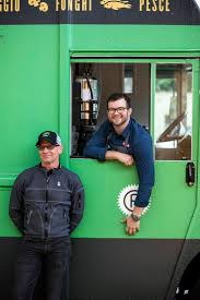 Gary Erickson And Chef John McConnell Hanging Out At The Bruschetteria Food Truck